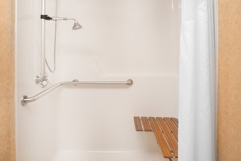 Holiday Inn Express Wenatchee-ADA/Handicapped accessible Guest Bathroom with roll-in shower<br/>Image from Leonardo