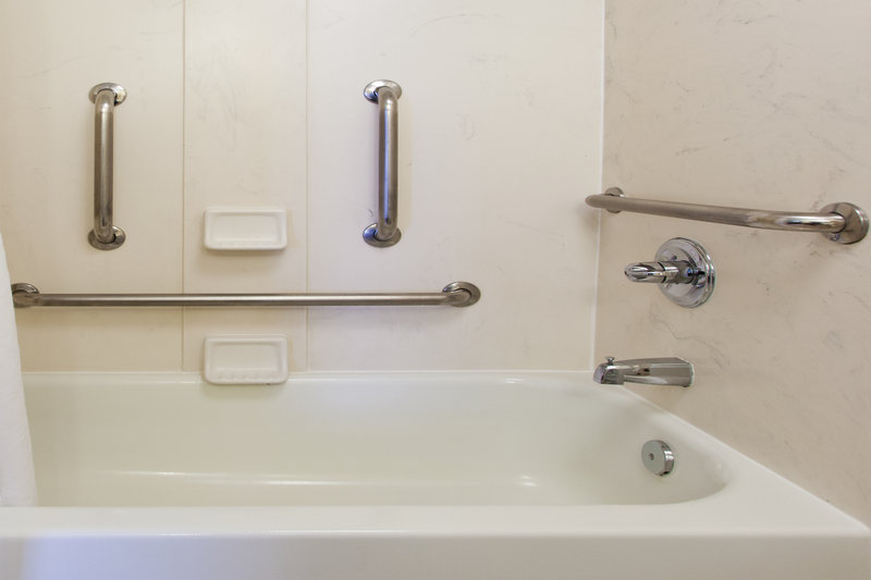 Holiday Inn Charleston-Riverview-ADA/Handicapped accessible Guest Bath with transfer tub<br/>Image from Leonardo