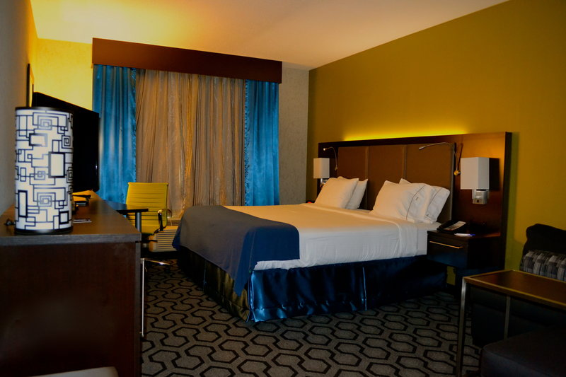 Holiday Inn Express Hotel & Suites Charleston Apt-Conv Ctr-Standard King Room with LED Lights on Headboard<br/>Image from Leonardo