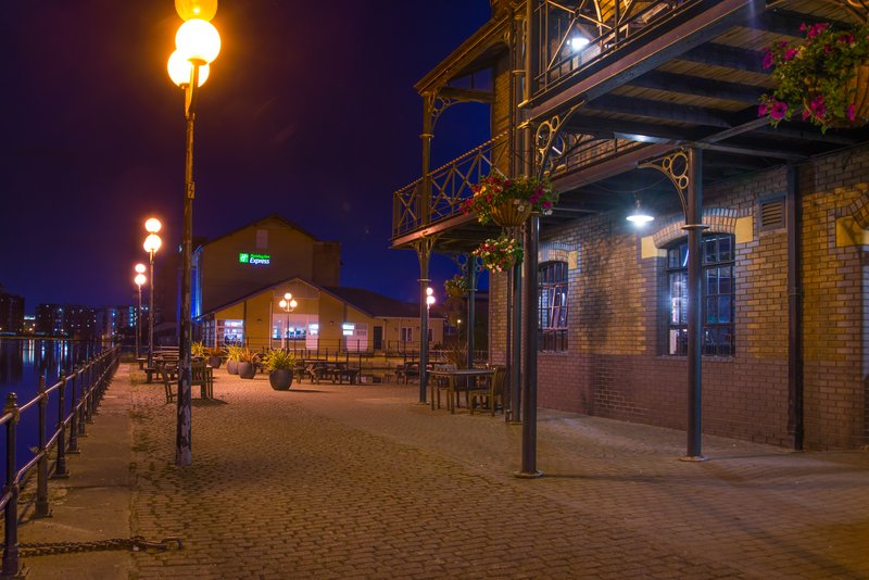 Holiday Inn Express Cardiff Bay-Pathway around the waterside<br/>Image from Leonardo