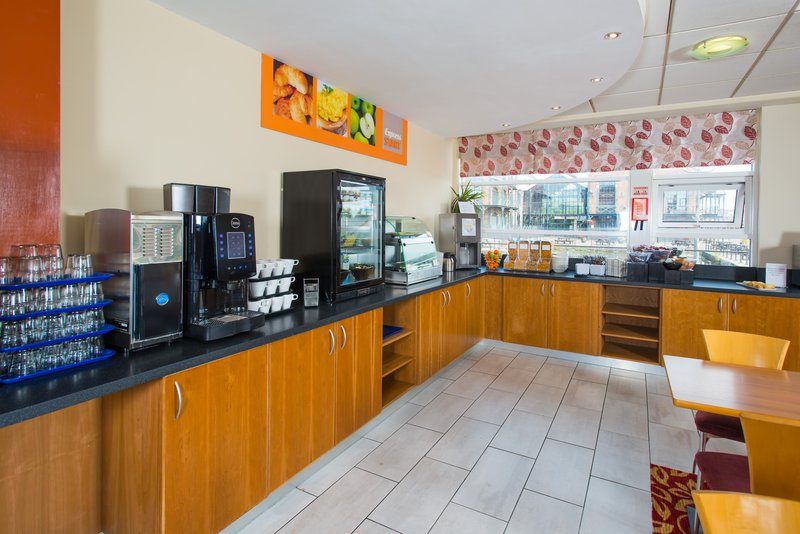 Holiday Inn Express Cardiff Bay-Complimentary continetal breakfast with additional hot favourites<br/>Image from Leonardo