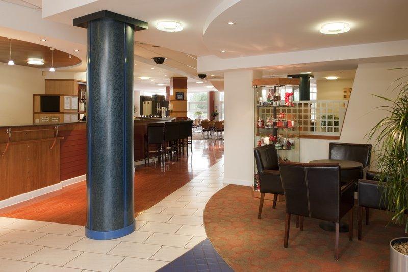 Holiday Inn Express Cardiff Bay-Lobby Lounge has Free WIFI<br/>Image from Leonardo