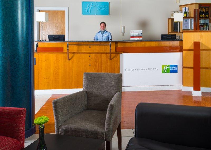 Holiday Inn Express Cardiff Bay-Reception<br/>Image from Leonardo