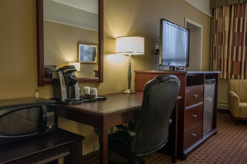 Holiday Inn St. John's Conference Centre-Family suite features, fridge, microwave & Kureg coffee maker<br/>Image from Leonardo