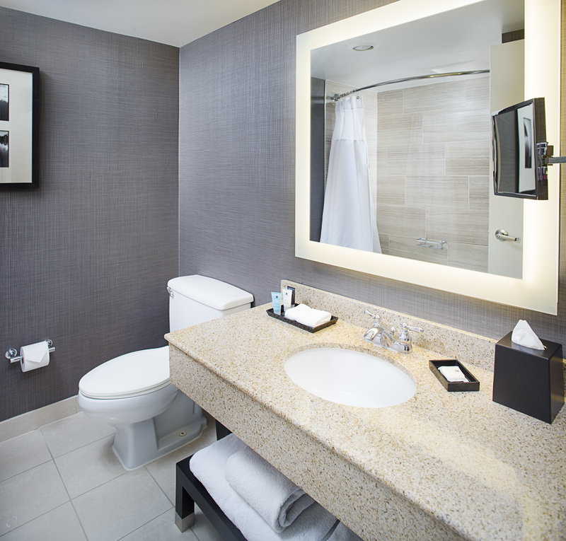Crowne Plaza Annapolis-Newly Renovated Guest Bathroom<br/>Image from Leonardo
