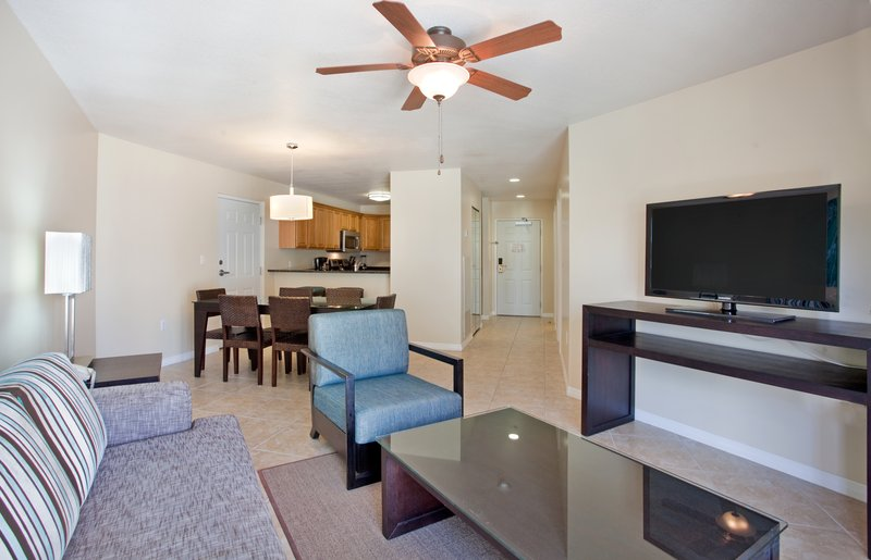 Holiday Inn Resort Grand Cayman-One Bedroom King Suite- living area<br/>Image from Leonardo