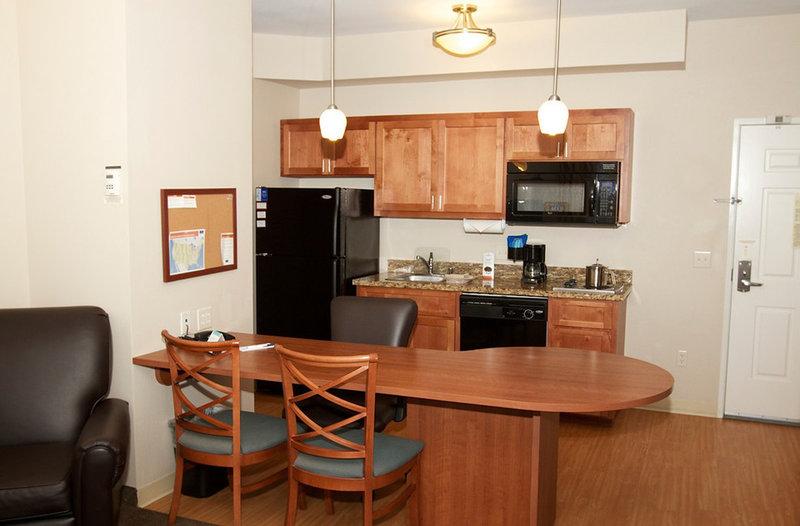 Candlewood Suites Santa Maria-Guest Room One Bedroom Suite Kitchen<br/>Image from Leonardo