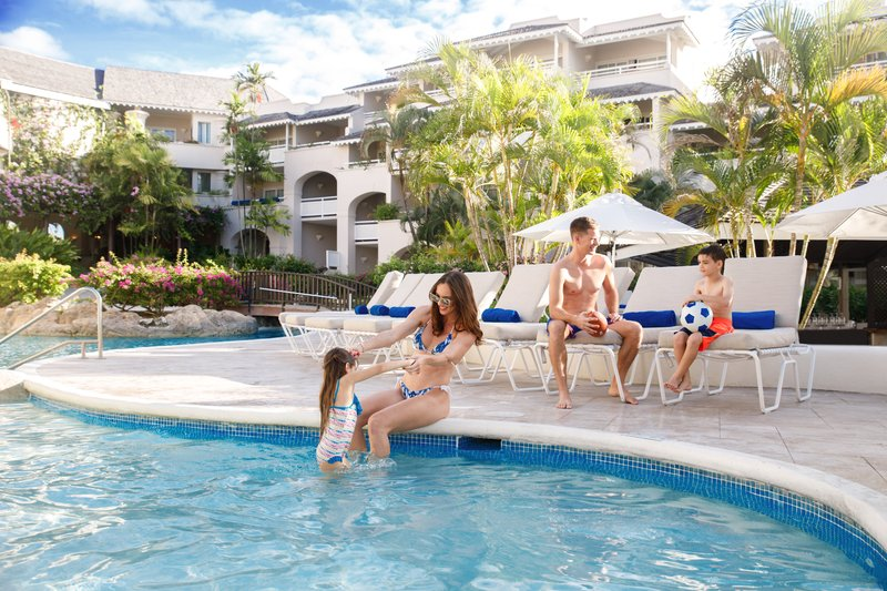 Bougainvillea Barbados-Bougainvillea Barbados - Family by Pool<br/>Image from Leonardo