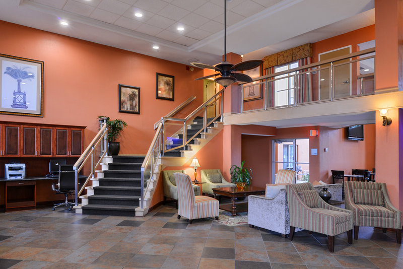 Holiday Inn Express Clearwater East - Icot Center-Beautiful lobby with plenty of seating to relax or work<br/>Image from Leonardo