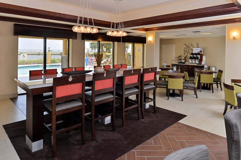 Holiday Inn Express & Suites Tampa/Rocky Point Island-Look for dolphins and manatees while enjoying breakfast <br/>Image from Leonardo