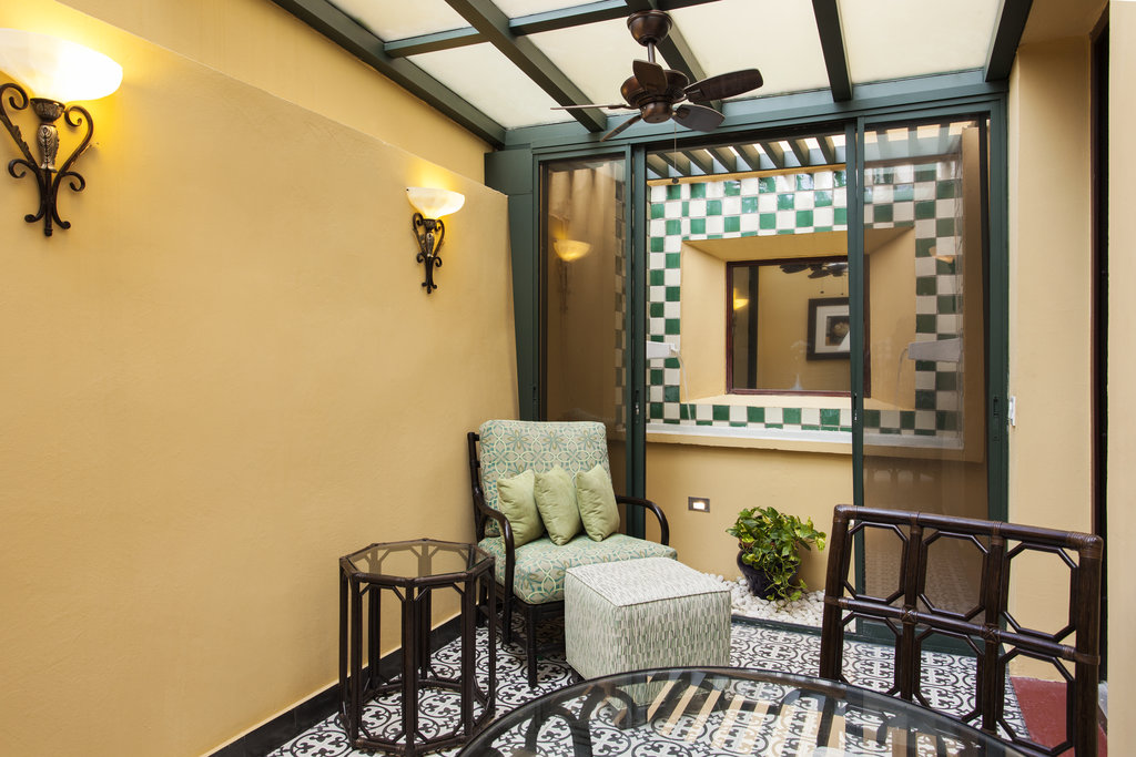 Hotel El Convento - McMurray Jr. Suite Private Terrace <br/>Image from Leonardo