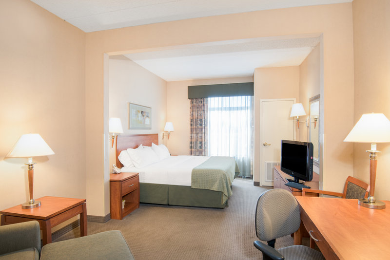 Holiday Inn Express Phoenix-I-10 West/Goodyear-ADA/Handicapped accessible King Bed Guest Room<br/>Image from Leonardo