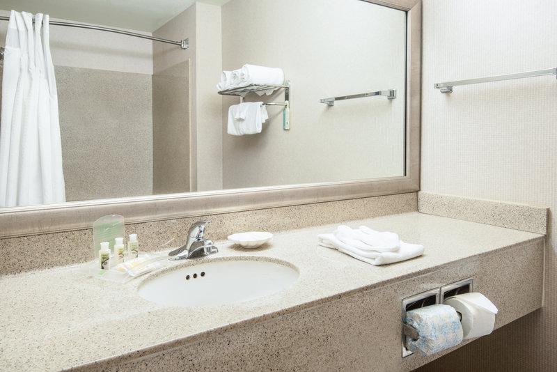 Holiday Inn Express Phoenix-I-10 West/Goodyear-Spacious Standard Guest Bathroom<br/>Image from Leonardo
