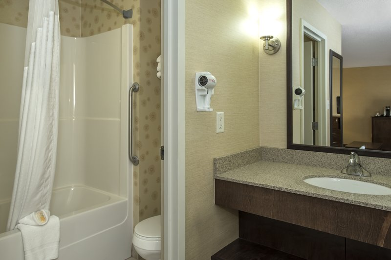 Holiday Inn Lethbridge-EnSuite bathroom with separate vanity area<br/>Image from Leonardo