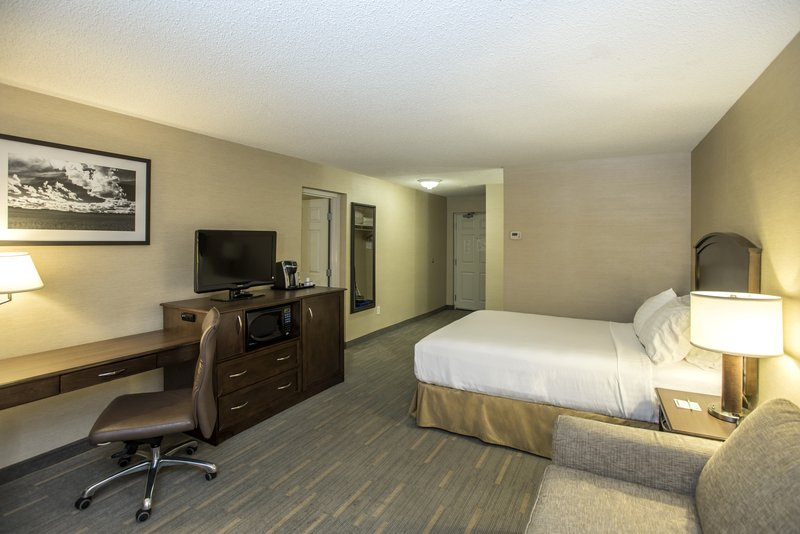 Holiday Inn Lethbridge-Bedroom with 1 bed and living room adjacent<br/>Image from Leonardo