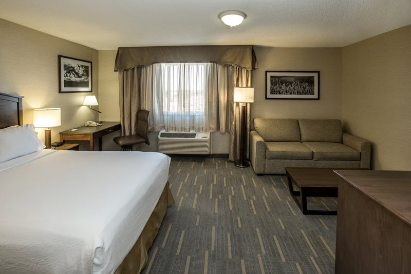 Holiday Inn Lethbridge-Large bedroom with 1 Queen bed and sofabed<br/>Image from Leonardo