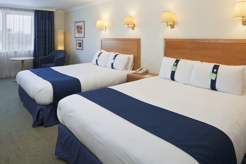 Holiday Inn Basildon-Two double beds and a sofa bed situated on the front corners<br/>Image from Leonardo