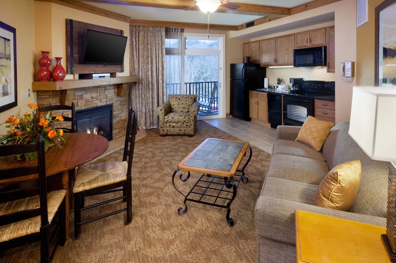 Holiday Inn Club Vacations Gatlinburg-Smoky Mountain Resort-Open and spacious floorplan with living and dining areas<br/>Image from Leonardo