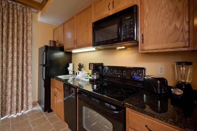 Holiday Inn Club Vacations Gatlinburg-Smoky Mountain Resort-Fully equipped kitchen makes preparing meals easy<br/>Image from Leonardo