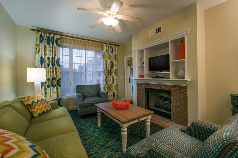 Holiday Inn Club Vacations South Beach Resort-Living room with pullout sleeper sofa, flat screen TV & fireplace<br/>Image from Leonardo