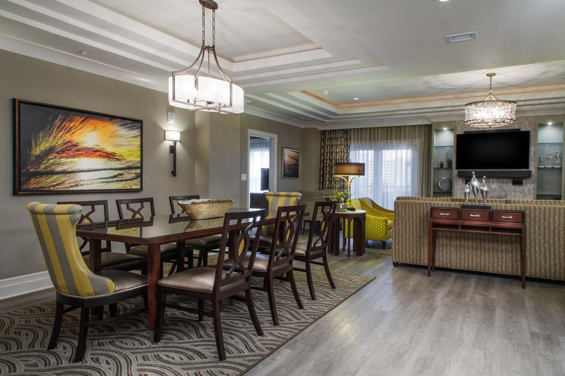 Holiday Inn Club Vacations South Beach Resort-Signature Collection, elegant dining table w/ separate living room<br/>Image from Leonardo