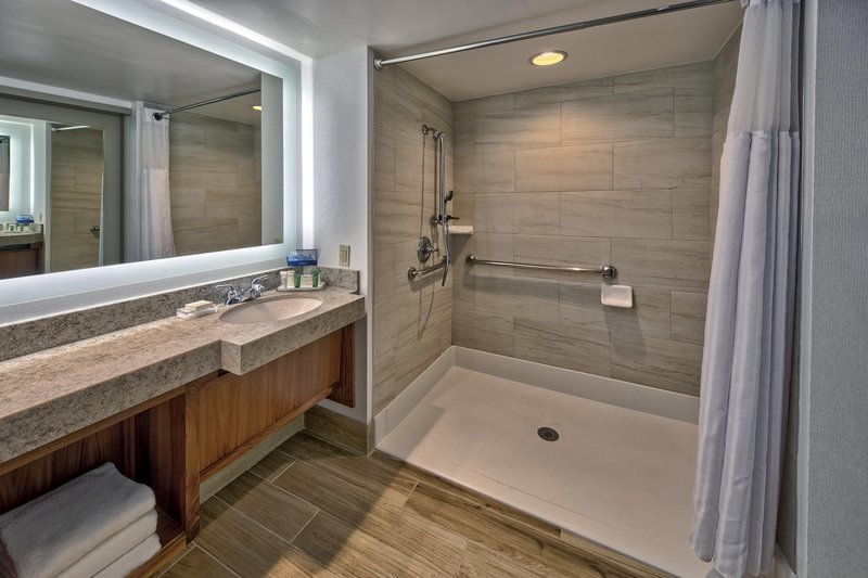 Hilton Knoxville Airport, TN-Accessible Shower<br/>Image from Leonardo