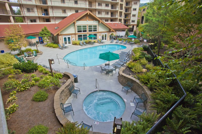 Holiday Inn Club Vacations Gatlinburg-Smoky Mountain Resort-Outdoor swimming pool with whirlpool<br/>Image from Leonardo