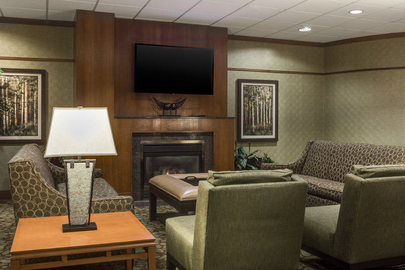 Holiday Inn Hotel & Suites Des Moines-Northwest-We'll start the fireplace, you bring the conversation and relax.<br/>Image from Leonardo