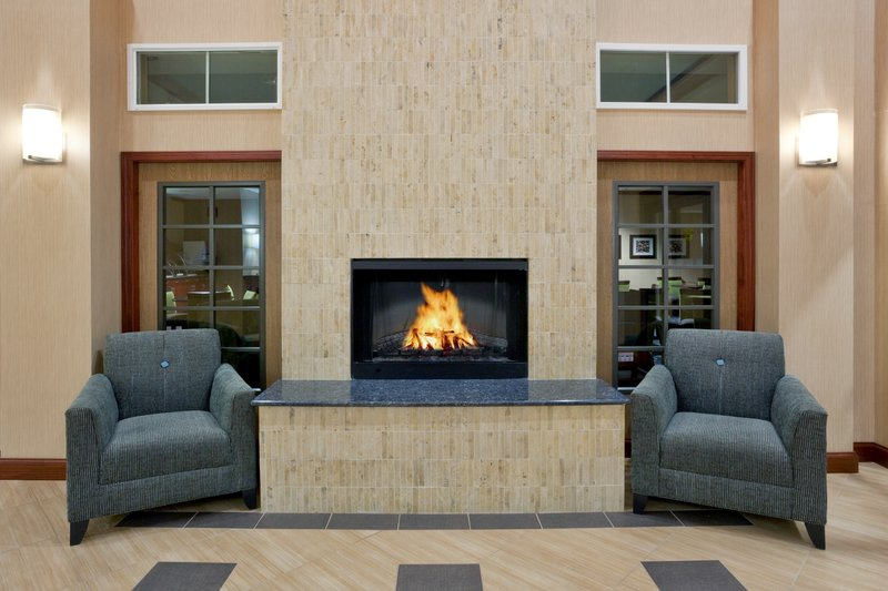 Holiday Inn Express Hotel & Suites North Sequim-Hotel Lobby Fireplace<br/>Image from Leonardo