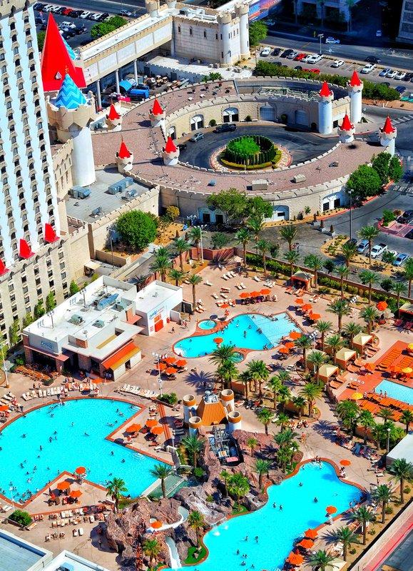 Excalibur Hotel and Casino - Excalibur Pool Aerial <br/>Image from Leonardo