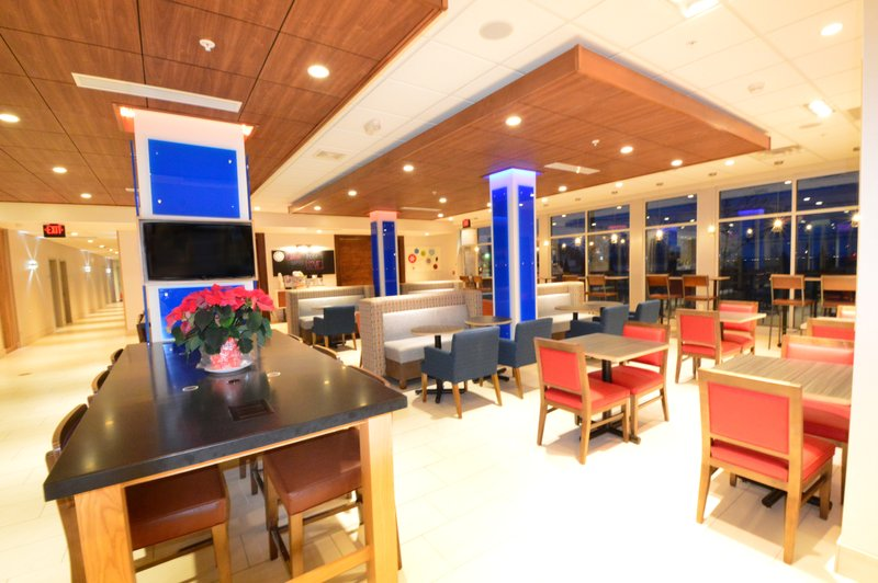 Holiday Inn Express & Suites Toledo South - Perrysburg-Breakfast Area tables<br/>Image from Leonardo