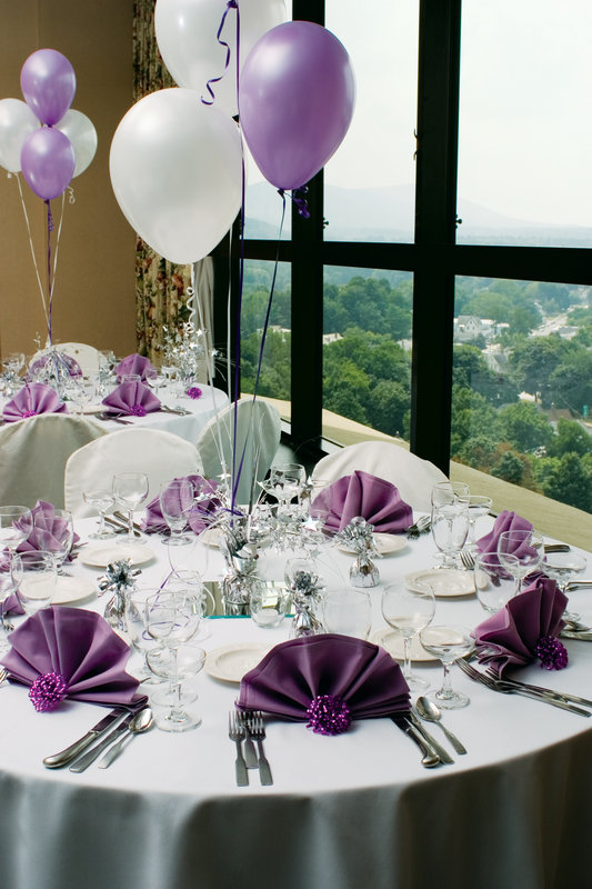 Crowne Plaza Pittsfield-Berkshires-Tables at Top Purple Fan Fold - Banquet Room<br/>Image from Leonardo