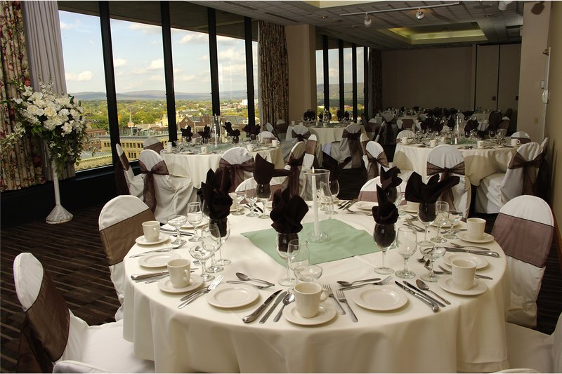 Crowne Plaza Pittsfield-Berkshires-Tables at Top Black and Seafoam Green - Meeting Room<br/>Image from Leonardo
