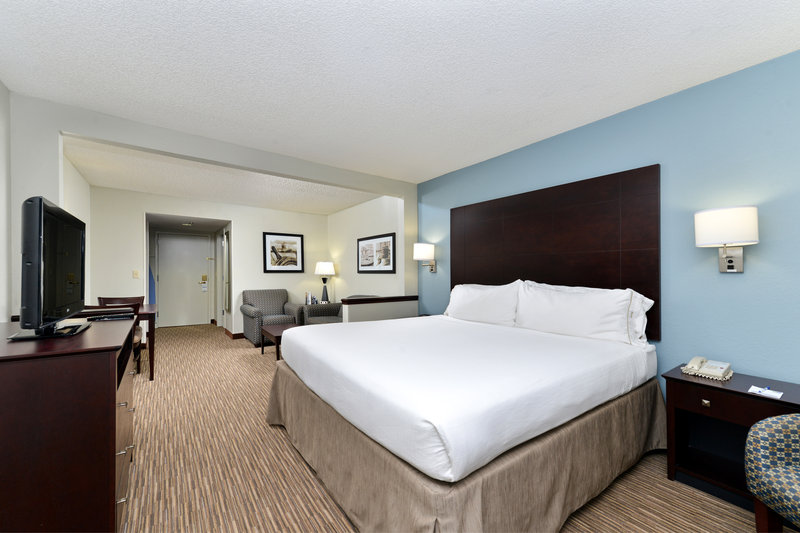 Holiday Inn Express & Suites Tampa/Rocky Point Island-King Suite with Sofa bed and small living area with micro fridge <br/>Image from Leonardo