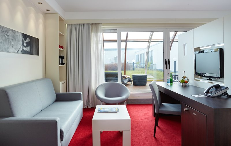 Berlin Airport Conference Centre-Comfortable Captain Suite Seating Area<br/>Image from Leonardo