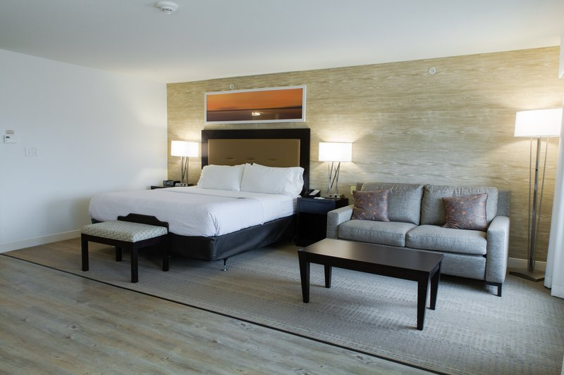Holiday Inn Hotel & Suites Bloomington - Airport-ADA king guest room with LVT flooring and low pile carpet<br/>Image from Leonardo