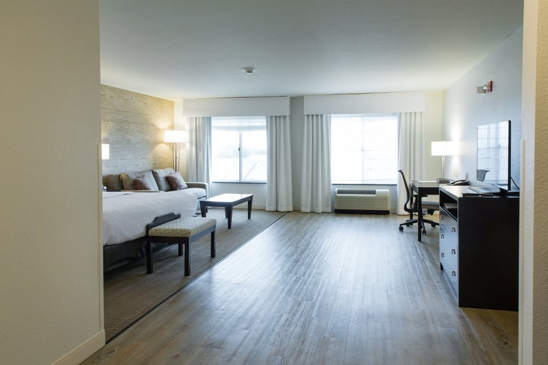 Holiday Inn Hotel & Suites Bloomington - Airport-ADA King Guest room furnished with a sofa sleeper and