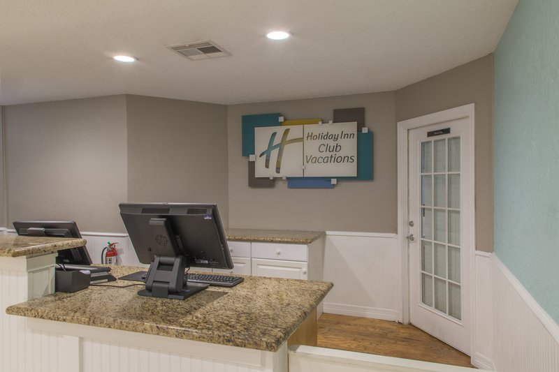 Holiday Inn Club Vacations Galveston Beach Resort-Seaside Resort front desk where guests check into the resort<br/>Image from Leonardo