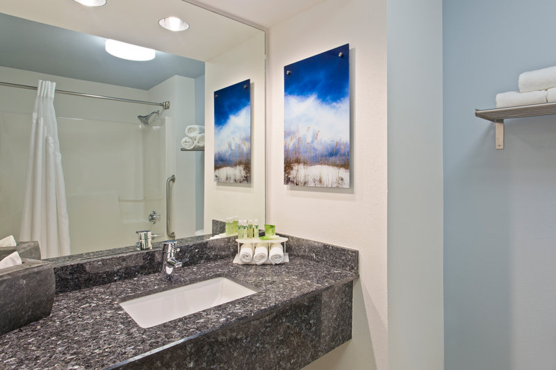 Holiday Inn Express Hotel & Suites Clearwater North/Dunedin-Suite Guest Bathroom<br/>Image from Leonardo