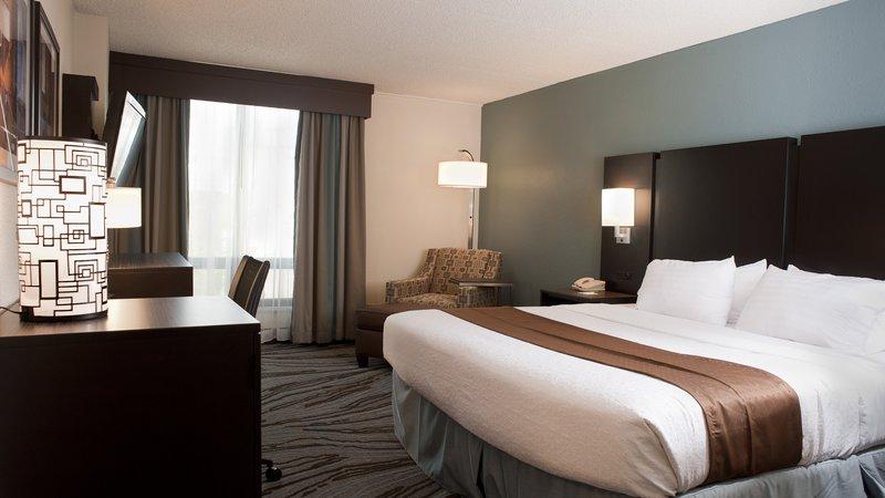 Holiday Inn Rock Island - Quad Cities-Holiday Inn Rock Island - Quad Cities - King Bed Guest Room<br/>Image from Leonardo