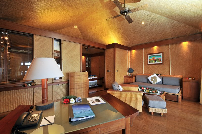 Sofitel Moorea Ia Ora Beach Resort-Lounge area of an overwater bungalow<br/>Image from Leonardo