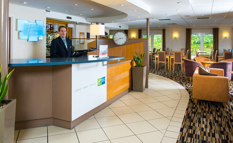 Holiday Inn Express Peterborough-Our helpful Reception team are on hand 24 hours a day<br/>Image from Leonardo