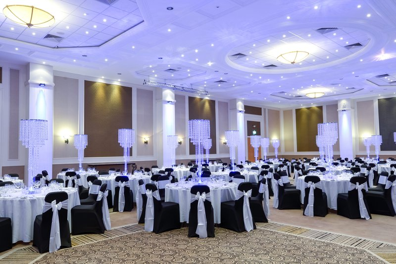 Crowne Plaza Plymouth-The ballroom is suitable for large events including banquets<br/>Image from Leonardo