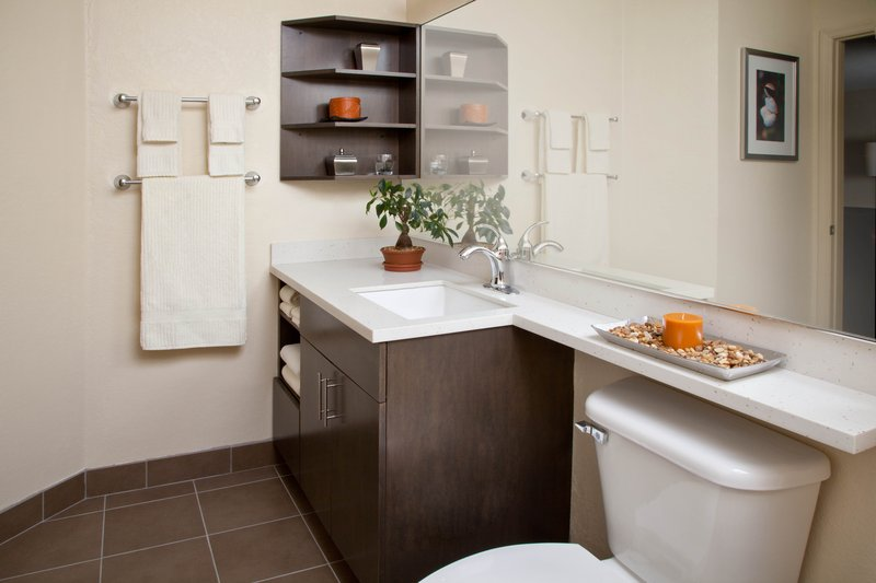Candlewood Suites Mooresville/Lake Norman-Our spacious well lit bathroom vanities with hairdryers<br/>Image from Leonardo
