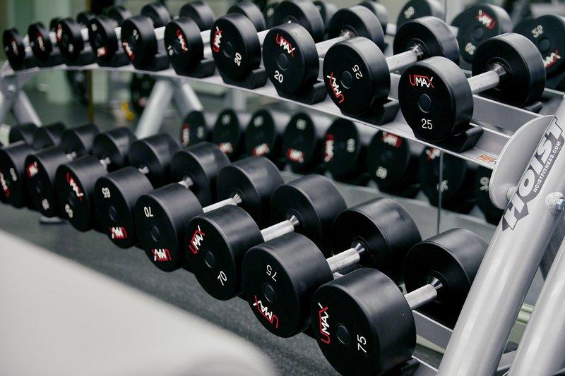 Park MGM Las Vegas - Fitness Center Weights <br/>Image from Leonardo