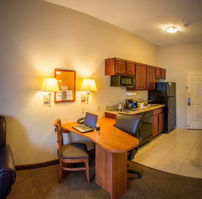 Candlewood Suites South Bend Airport-Fully Stocked Kitchen with Dishwasher, Stovetop, Toaster, Microw<br/>Image from Leonardo