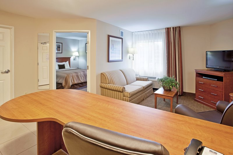 Candlewood Suites South Bend Airport-One Bedroom Suite view from Kitchen<br/>Image from Leonardo