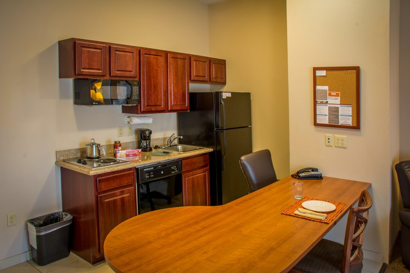 Candlewood Suites South Bend Airport-Fully Stocked Kitchen and Large Workdesk Area<br/>Image from Leonardo