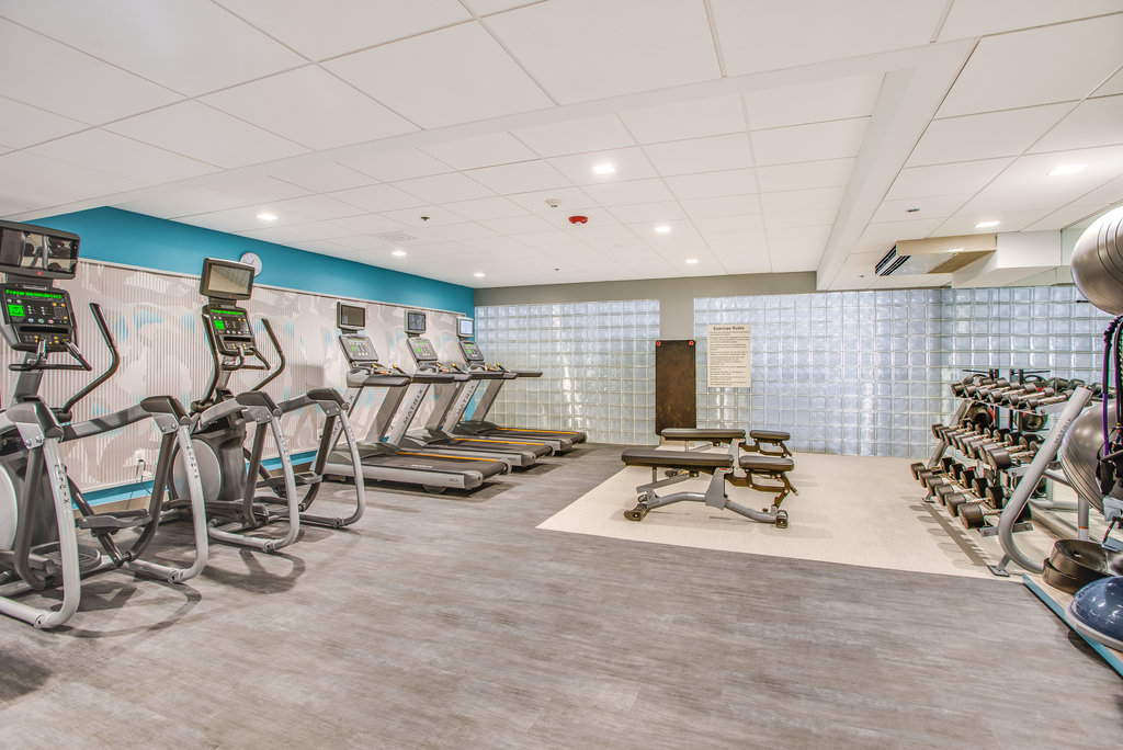 Crowne Plaza Old Town Alexandria-New Fitness Center, treadmill, elliptical and free weights<br/>Image from Leonardo