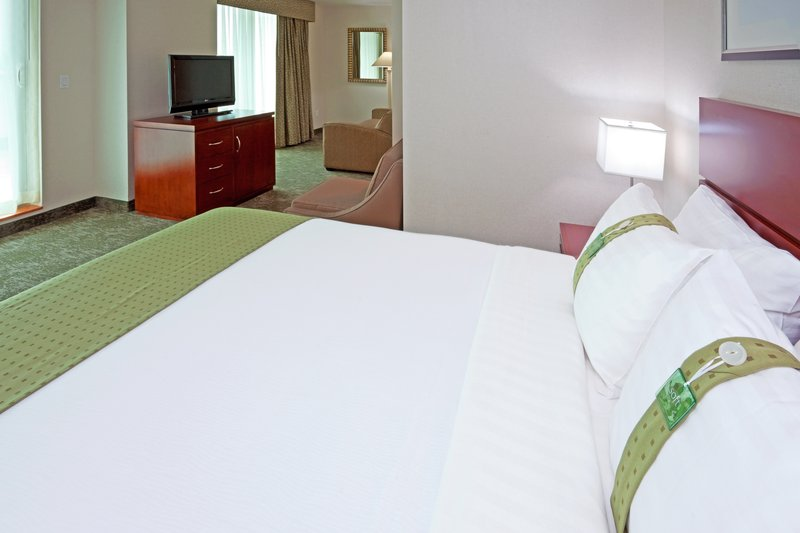 Holiday Inn L.I. City-Manhattan View-Staten Island Suite has one queen bed and pullout sofa<br/>Image from Leonardo
